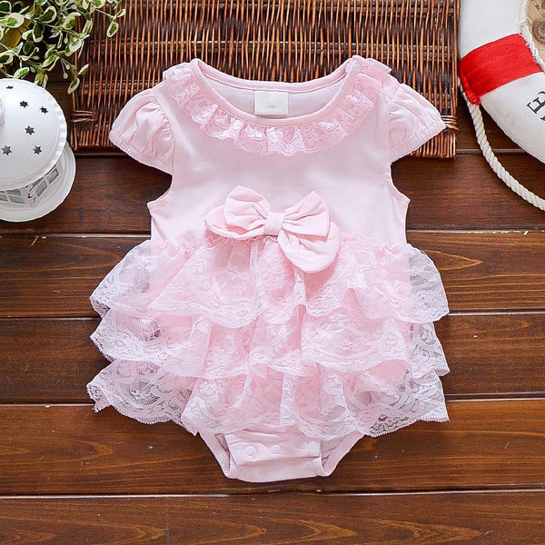 Baby summer bodysuit infant girls princess dress