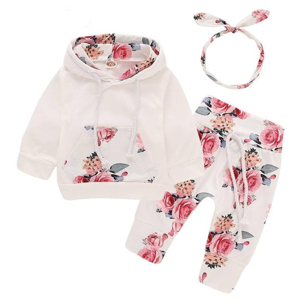 Floral newborn baby girl clothes children's clothing girl tracksuit