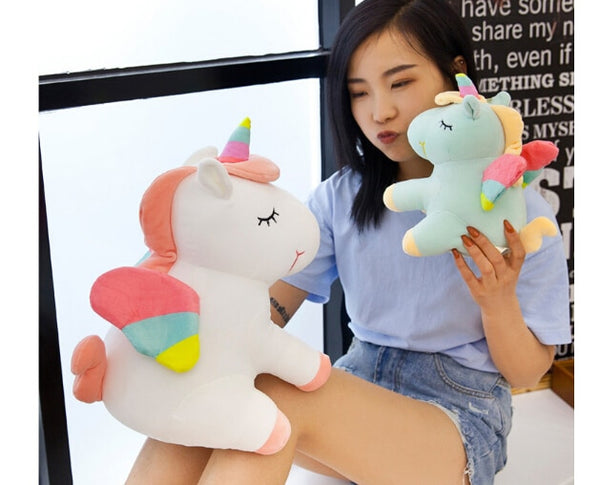 25CM New Soft Cute Rainbow Style Unicorn Toy Plush Toys