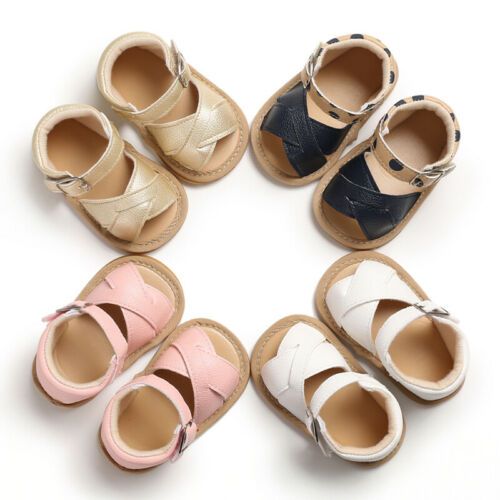 Summer Baby Kid Boy Girl Sandals Prewalker Newborn Leather Soft Sole Crib Shoes