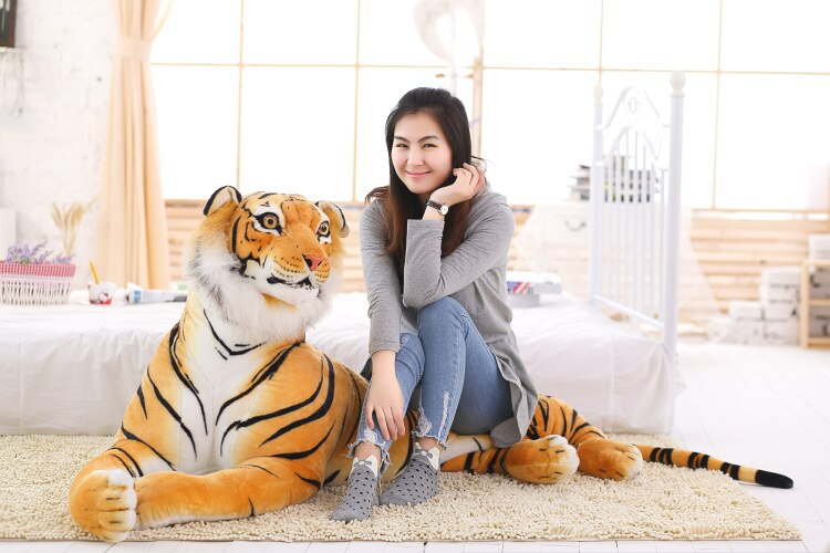 3D stereo simulation tiger plush toy