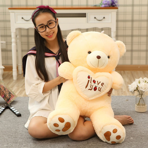 I Love You Teddy Bear Large Stuffed Plush Toy