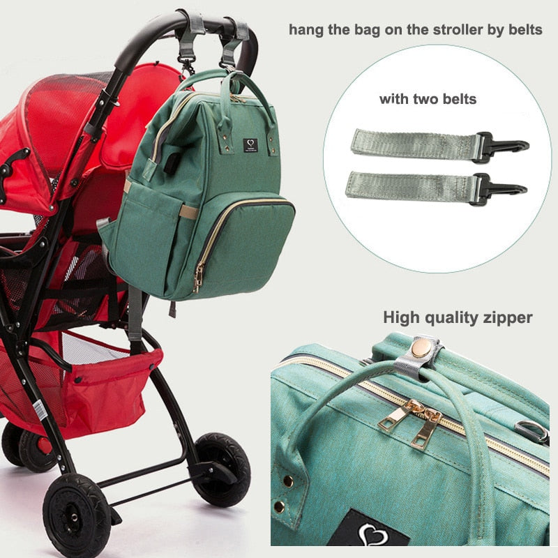 Waterproof Maternity Travel Nursing Bags Baby Care Stroller Handbags USB design