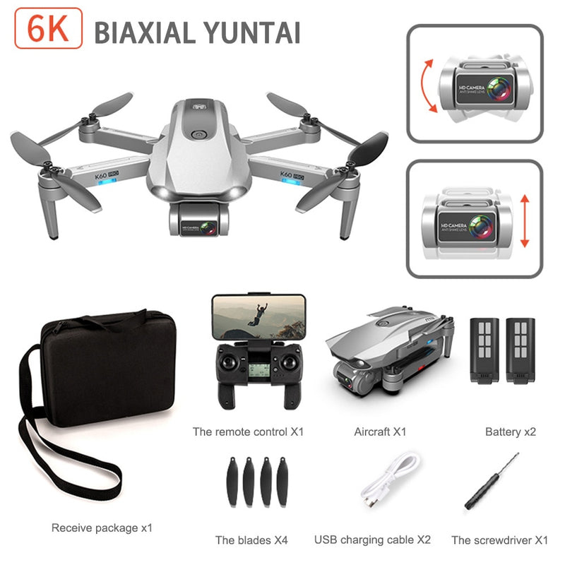K60 Pro GPS Drone with Professional 6K Dual Camera