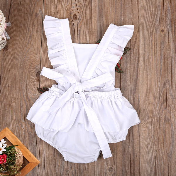 Baby Girls Sleeveless Jumpsuit Floral Romper