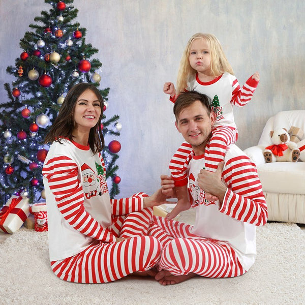 Christmas Family Pajamas Set Christmas Clothes Parent-child Suit