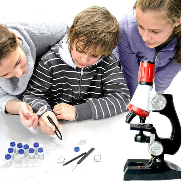 Microscope Toy Children Science And Education Set