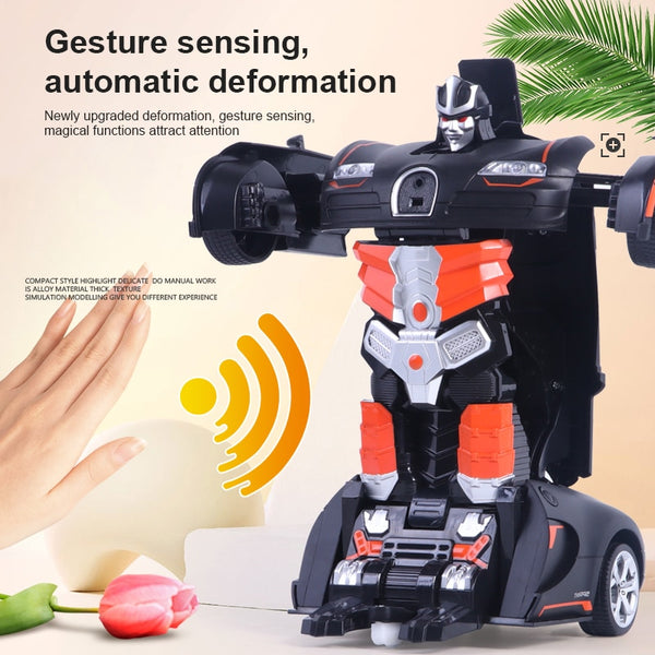 Transformation Gesture Induction 2 In 1 RC Deformation Robot Models Toys