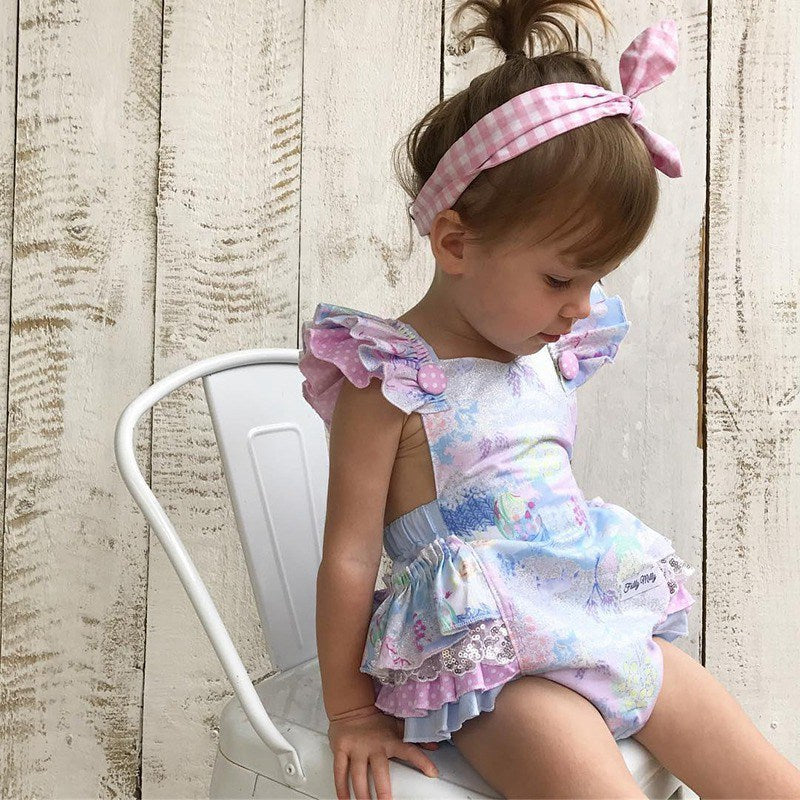 Colorful Sleeveless Newborn Baby Girls Floral Tutu Romper