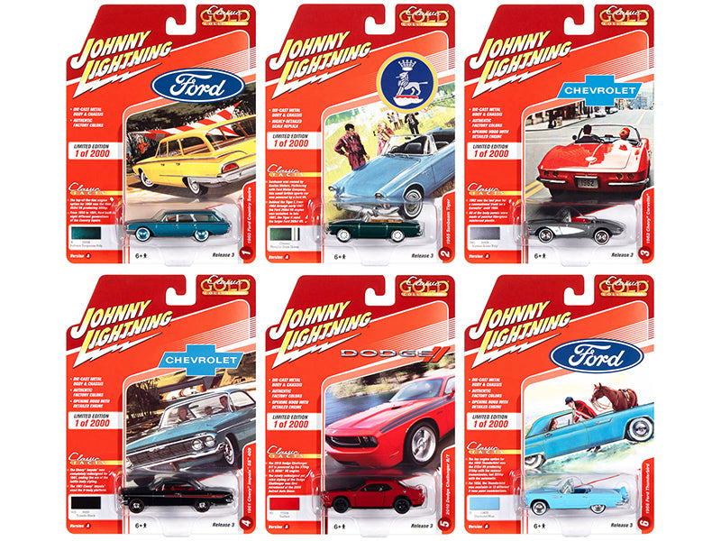 2020 Set A of 6 Cars Release 3 Limited Edition to 2000 pieces Worldwide 1/64 Diecast Model Cars by Johnny Lightning