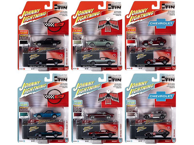 Johnny Lightning Collector\'s Tin 2020 Set of 6 Cars Release 2 Limited Edition to 3340 pieces Worldwide 1/64 Diecast Model Cars by Johnny Lightning
