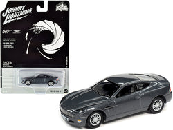 "2002 Aston Martin V12 Vanquish Gray Metallic (James Bond 007) \Die Another Day"" (2002) Movie \""Pop Culture\"" Series 1/64 Diecast Model Car by Johnny Lightning"""