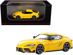 Toyota GR Supra RHD (Right Hand Drive) Yellow 1/64 Diecast Model Car by Kyosho