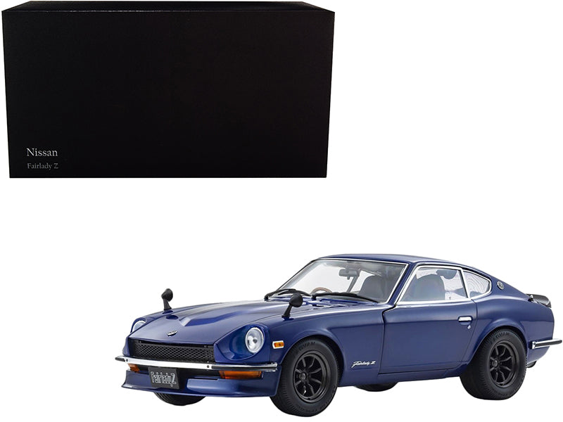 1970 Nissan Fairlady Z-L (S30) RHD (Right Hand Drive) Blue Metallic 1/18 Diecast Model Car by Kyosho