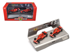 Ferrari F1 F2008 Constructors Champions Kimi Raikkonen & Felipe Massa 1 of 5000 Made 1/43 Diecast Model Car by Hotwheels