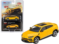 Lamborghini Urus with Sunroof Giallo Auge Yellow Limited Edition to 1800 pieces Worldwide 1/64 Diecast Model Car by True Scale Miniatures