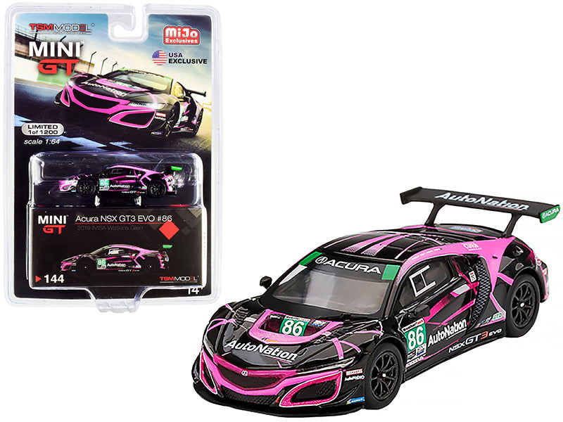 "Acura NSX GT3 EVO #86 \Auto Nation"" IMSA Watkins Glen Class Winner (2019) Limited Edition to 1200 pieces Worldwide 1/64 Diecast Model Car by True Scale Miniatures"""