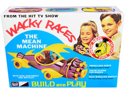 "Skill 2 Snap Model Kit The Mean Machine with Dick Dastardly and Muttley Figurines \Wacky Races"" (1968) TV Series 1/25 Scale Model by MPC"""