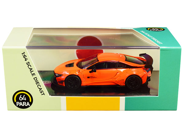 BMW i8 Liberty Walk Orange 1/64 Diecast Model Car by Paragon