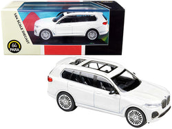 BMW X7 White 1/64 Diecast Model Car by Paragon