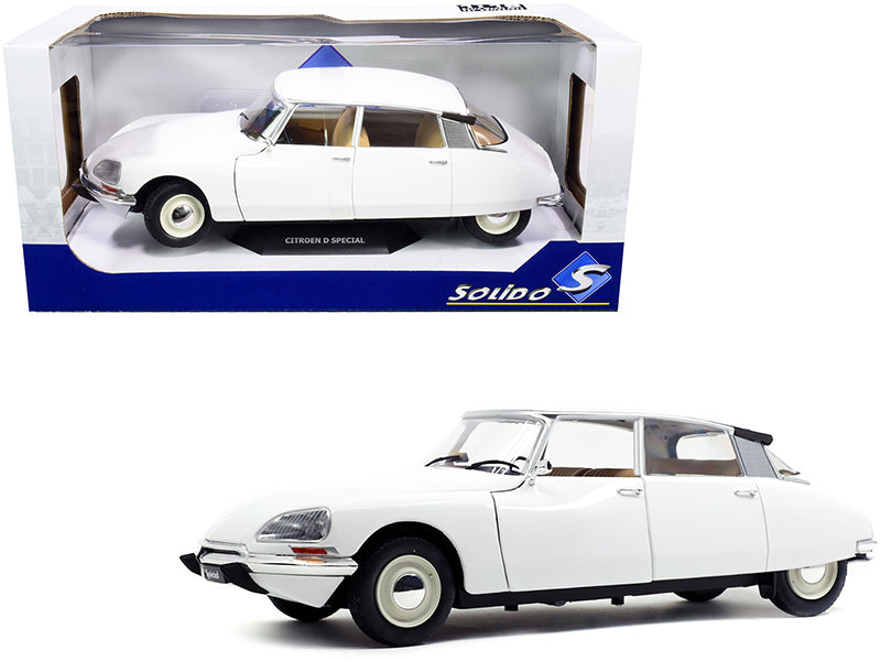 1972 Citroen D Special Blanche White 1/18 Diecast Model Car by Solido
