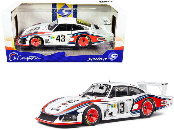 "Porsche 935 RHD (Right Hand Drive) \Moby Dick"" #43 Manfred Schurti - Rolf Stommelen \""Martini Racing Porsche System\"" 24H of Le Mans (1978) \""Competition\"" Series 1/18 Diecast Model Car by """