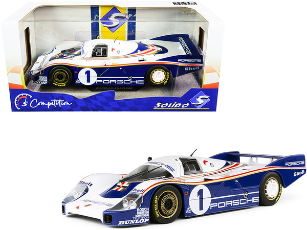 "Porsche 956LH RHD (Right Hand Drive) #1 Jacky Ickx - Derek Bell Winner 24H of Le Mans (1982) \Competition"" Series 1/18 Diecast Model Car by Solido"""