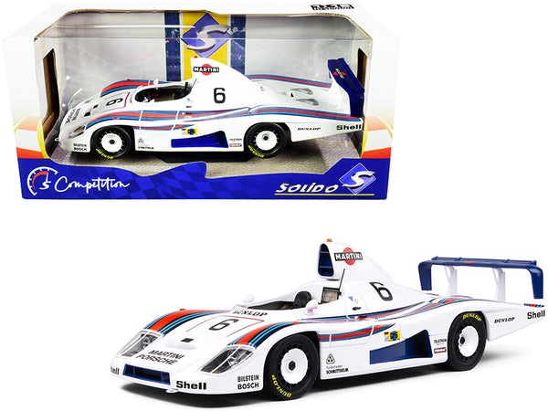 "Porsche 936 #6 Bob Wollek - Jurgen Barth - Jacky Ickx 2nd Place \Martini Racing Porsche System"" 24H of Le Mans (1978) \""Competition\"" Series 1/18 Diecast Model Car by Solido"""