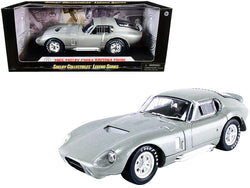 1965 Shelby Cobra Daytona Coupe Silver Metallic 1/18 Diecast Model Car by Shelby Collectibles