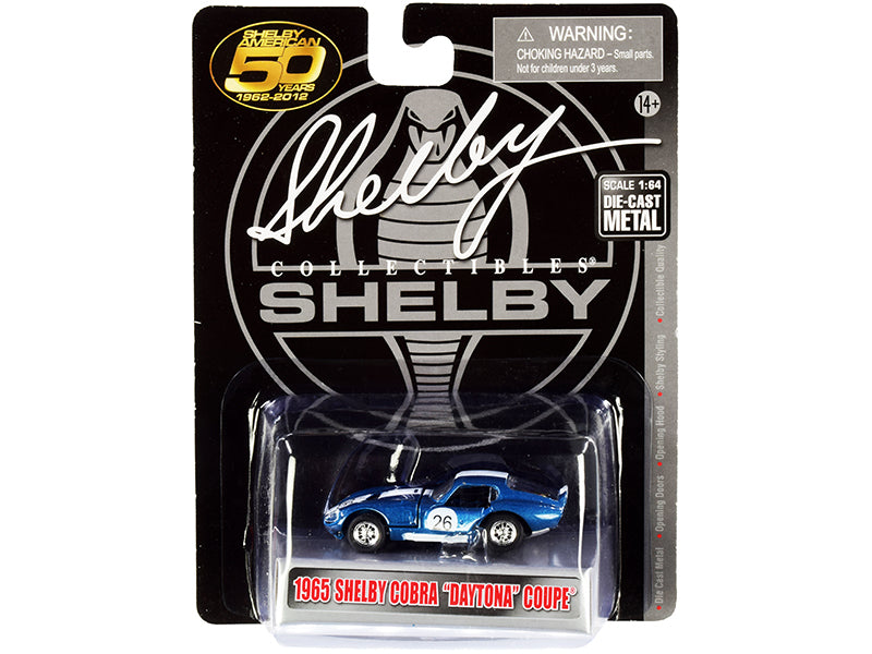 1965 Shelby Cobra Daytona Coupe 26 Blue Metallic with White Stripes