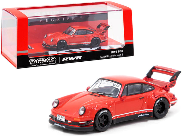 "Porsche RWB 930 Painkiller Version 2 Red \RAUH-Welt BEGRIFF"" 1/64 Diecast Model Car by Tarmac Works"""