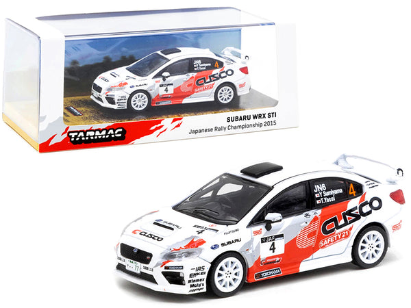 Subaru WRX STi #4 Y. Sumiyama - T. Yasui Japanese Rally Championship (2015) 1/64 Diecast Model Car by Tarmac Works