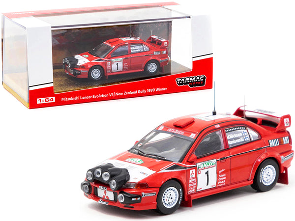 Mitsubishi Lancer Evolution VI #1 Tommi Makinen - Risto Mannisenmaki Winner New Zealand Rally (1999) 1/64 Diecast Model Car by Tarmac Works