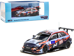 "Hyundai i30 N TCR \Yokohama"" WTCR (2019) with Decals #1 and #5 1/64 Diecast Model Car by Tarmac Works"""