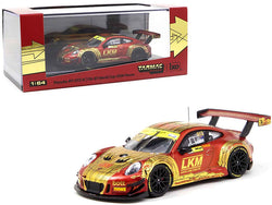 "Porsche 911 GT3 R #912 Earl Bamber \LKM"" Macau GT Cup  FIA GT World Cup (2018) 1/64 Diecast Model Car by Tarmac Works"""