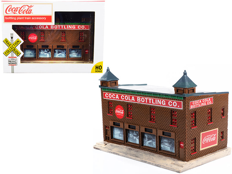 "\Coca-Cola Bottling Co."" Bottling Plant Building \""TraxSide Collection\"" Series for 1/87 (HO) Scale Models by Classic Metal Works"""
