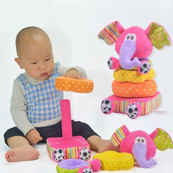 Elephant Stackable Baby Rattle Toys