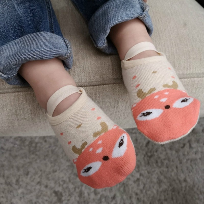 1 Pair Fashion Baby Girls Boys Cute Cartoon Non-slip Cotton Floor Socks