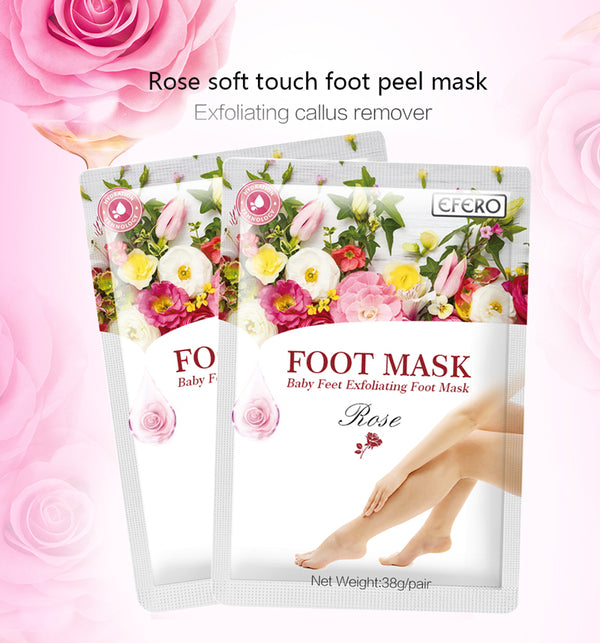 3pair=6pcs Exfoliating Foot Mask Baby Foot Peeling Mask for Legs Foot Cream