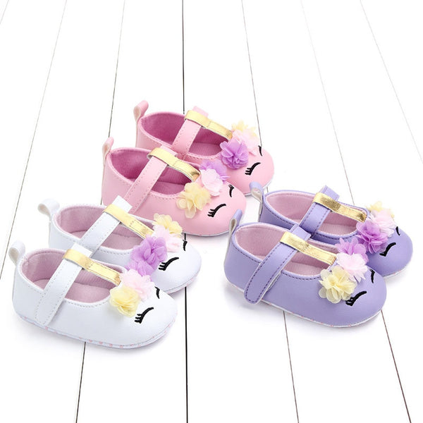 Cute Baby Girls Floral Casual First Walker Shoes