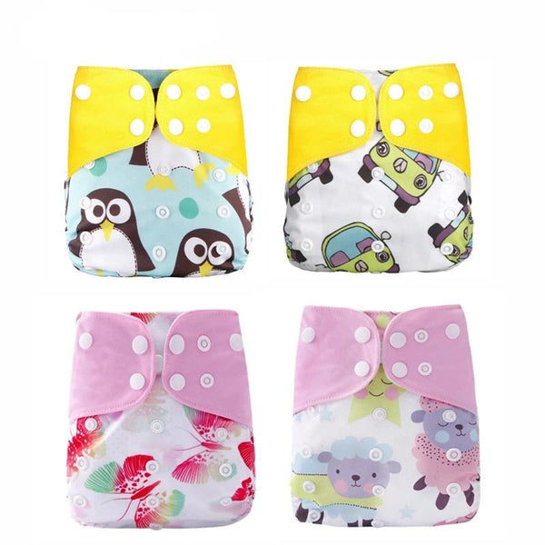4pcs/set Washable Cloth Diaper Adjustable Cover