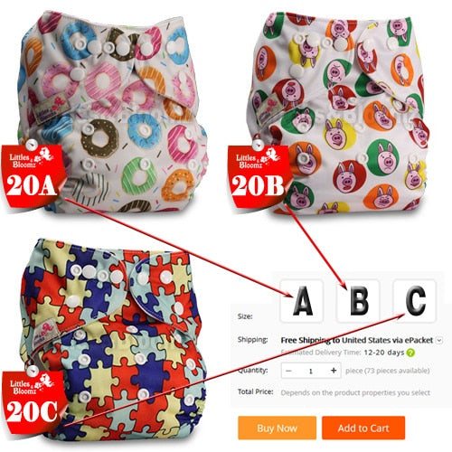 Baby Washable Reusable Cloth Pocket Nappy Diaper