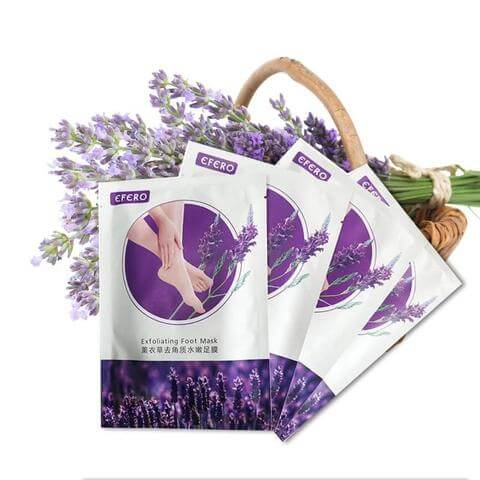 2pcs=1pair Lavender Foot Mask Remove Dead Skin Exfoliating Socks Pedicure
