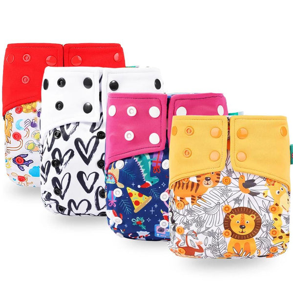 ECO-friendly Baby pocket Waterproof Cartoon Owl Reusable Cloth Diapers