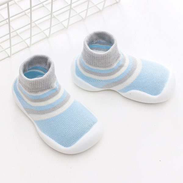 Kids Soft Rubber Sole Shoe Knit Booties Anti-slip