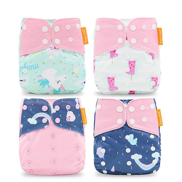 4pcs/set Washable Eco-Friendly Cloth Diaper Cover