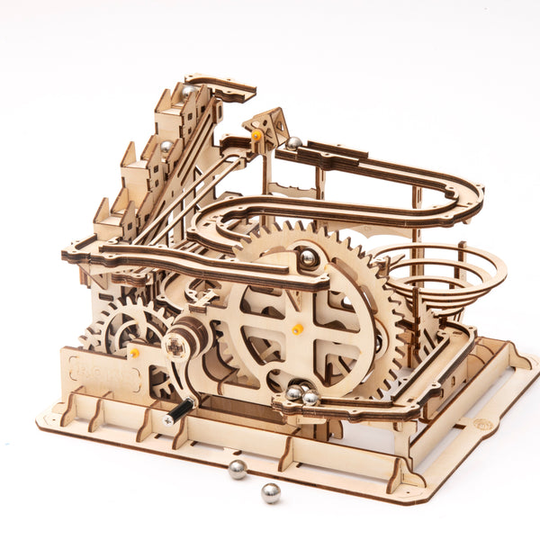 3D Marble Run Game Wooden Gear Drive Model Building Kits Toy for Children