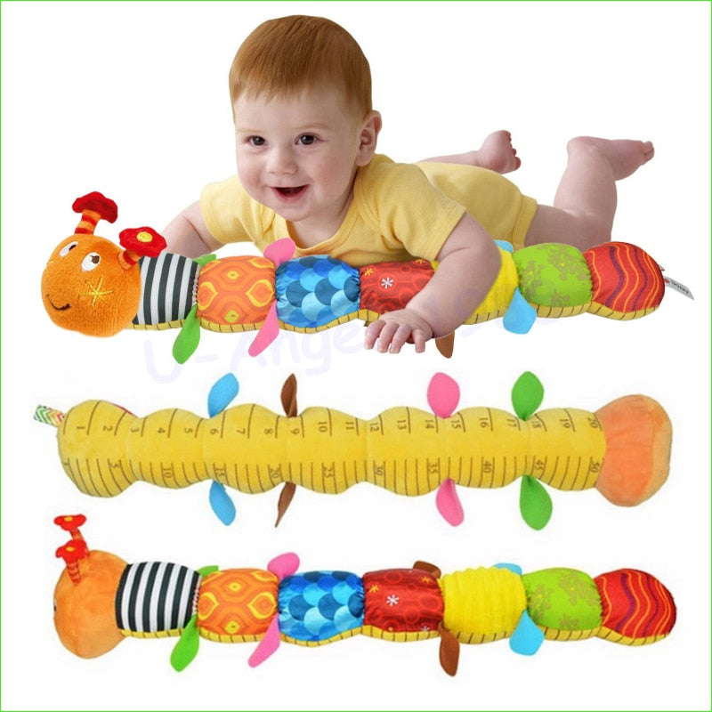 1Pcs Baby Toy Musical Caterpillar Rattle With Ring Bell - Educational Toys