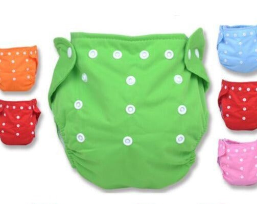Washable Reusable Nappies Grid/Cotton Training Pant Cloth Diaper