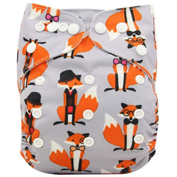 Baby Diaper Cover Wrap Cartoon Print Nappy Changing Reusable Baby Cloth